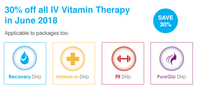 30% off all IV Vitamin Therapy in June '18