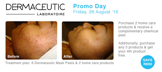 Dermaceutic Promo Day: Friday, 26 August '16 - Save R890