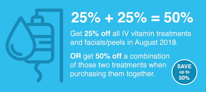 IV Therapy & Peels Promo - Save up to 50%